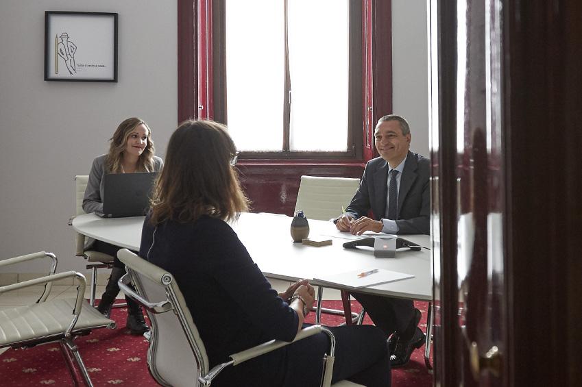 Foto della sala riunioni dello Studio associato Magnaghi Giannotto di Milano